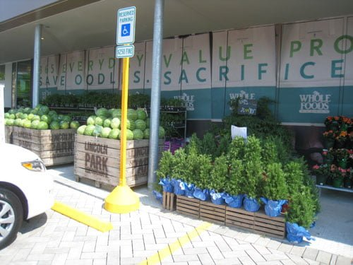 Live plants and more produce out front