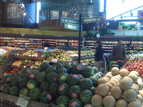 In the produce section