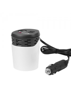 Wagan Car Cup Holder Power Adapter (4-USB Ports)
