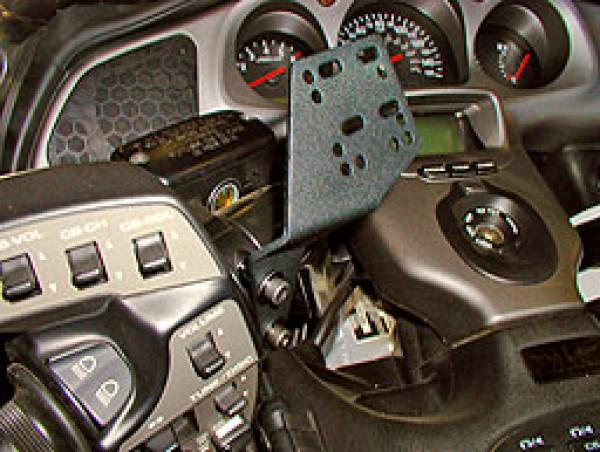Honda Goldwing Left Hand Mount CM-205-BLK Installed