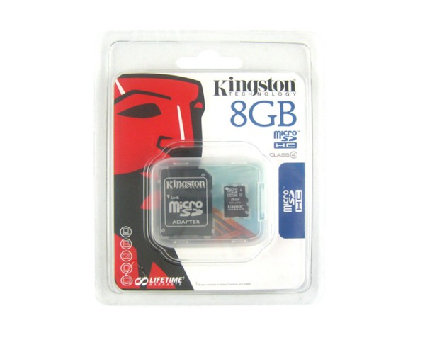 8GB MicroSD Flash Memory Card Package