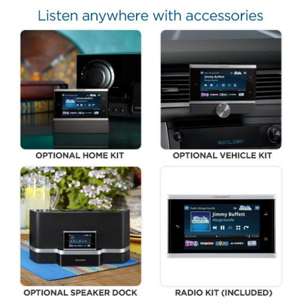 SiriusXM Lynx Wi-Fi Portable Satellite Radio SXi1 Accessory Options