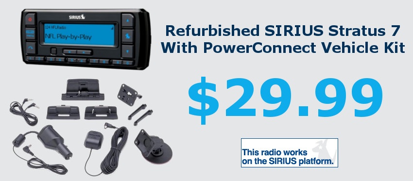 Refurbished SIRIUS Stratus 7 With PowerConnect Vehicle Kit BSSV7V1