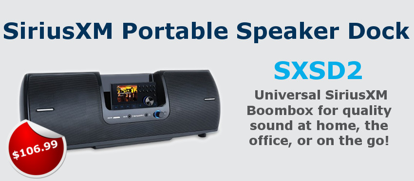 SiriusXM Portable Speaker Dock SXSD2