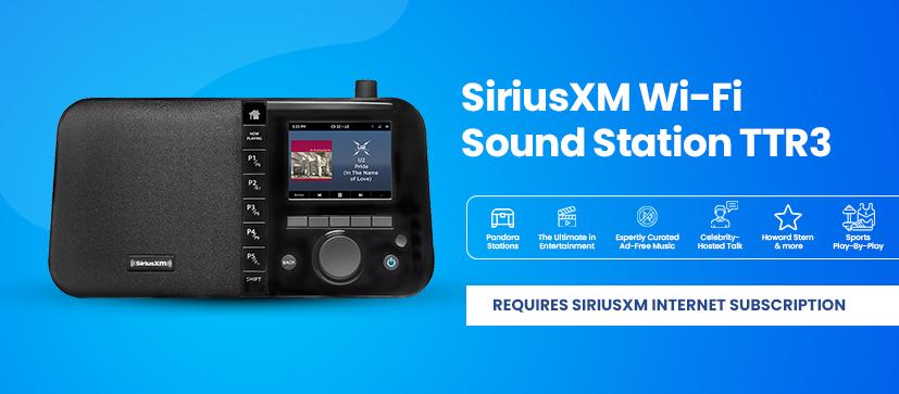 New TTR3 Wi-Fi Sound Station!  SiriusXM, Pandora, and More!
