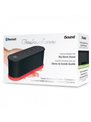 Open Box iGlowsound Waves Portable Bluetooth Speaker iSound-5423