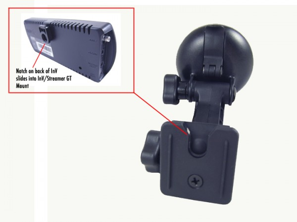 SIRIUS INV/Streamer GT Suction Cup Mount Notch and Mount