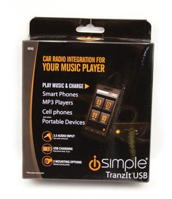ISimple TranzIt USB Universal FM Adapter IS32 Package