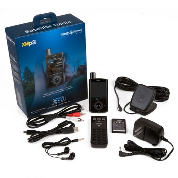 XM XMp3i Portable Receiver and MP3 Player with Home Kit XPMP3H1 Contents Image