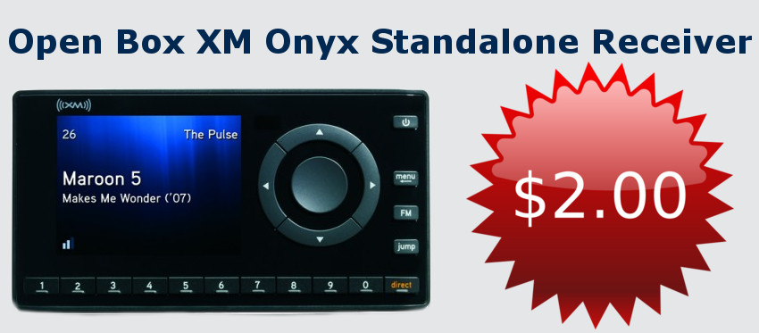 Open Box/Used XM OnyX Standalone Receiver