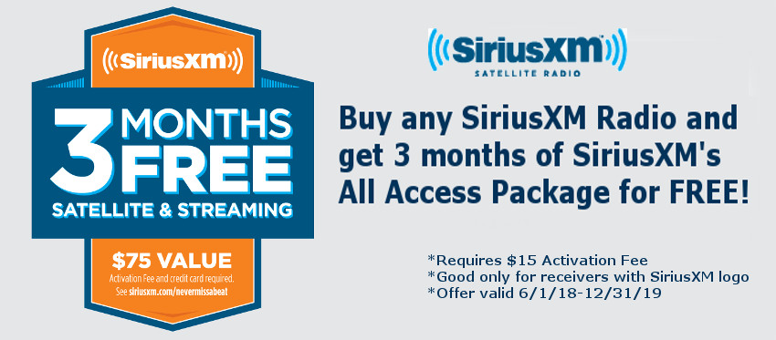 SiriusXM Free 3 Month Promo for SiriusXM Radios!