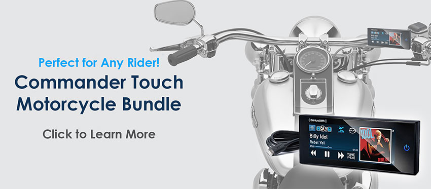 Commander Touch Motorcycle Bundle - Add SiriusXM to Your Motorcycle!